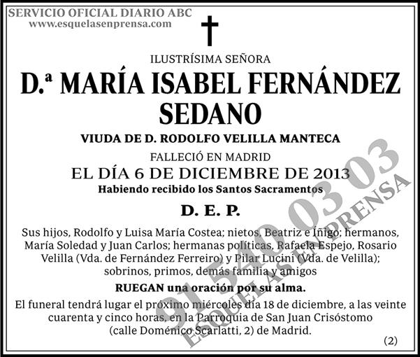 María Isabel Fernández Sedano